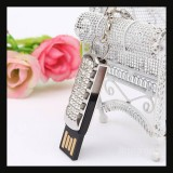 8GB Swivel USB 2.0 Crystal Flash Drive-SILVER